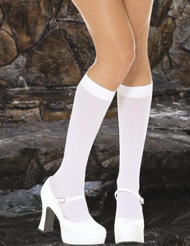 Opaque Knee Hi - White