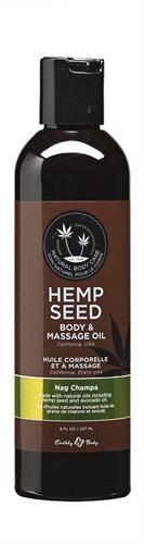 Hemp Seed Massage Oil - 8 Fl. Oz. - Nag Champa
