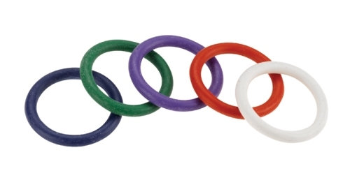 "Rubber C-Ring Set - 1.25"" - Rainbow"
