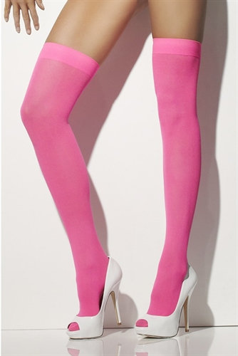 Opaque Hold Ups - Neon Pink