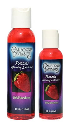 Razzels Warming Lubricant - Sinful Strawberry - 2 Oz. Bottle