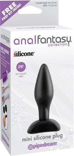 Anal Fantasy Collection Mini Silicone Plug - Black