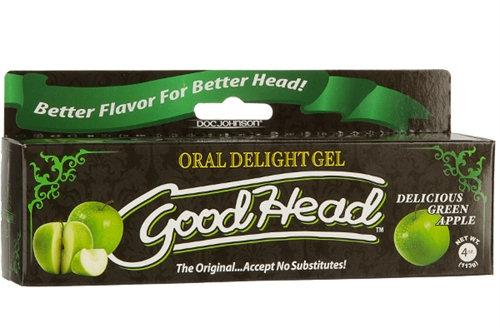 Good Head Oral Delight Gel 4 Oz - Green Apple