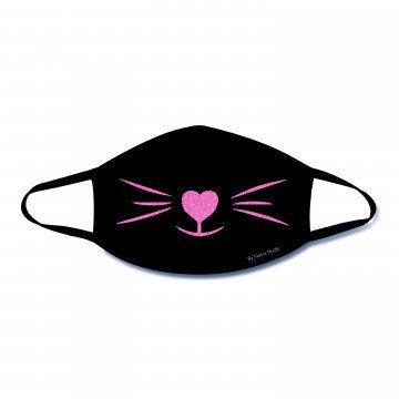 Pink Kittee Glitter Kitty Face Mask