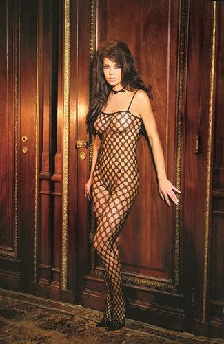 Crochet Body Stocking - Black - One Size