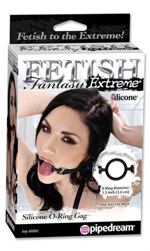 Fetish Fantasy Extreme Silicone  O Ring Gag - Black