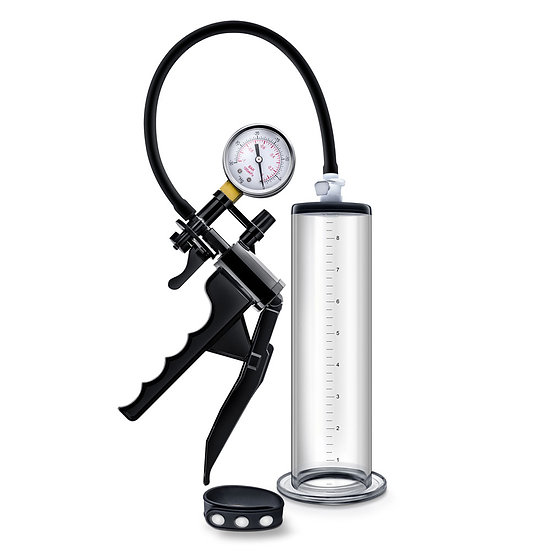 Performance - Vx8 Premium Penis Pump System  With Silicone Cock Strap - Clear