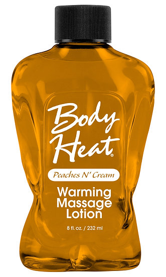 Body Heat Warming Massage Lotion - 8 Fl. Oz. - Peaches n' Cream