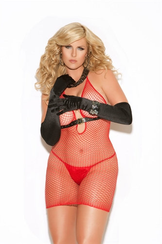 Diamond Net Dress - Queen Size - Red