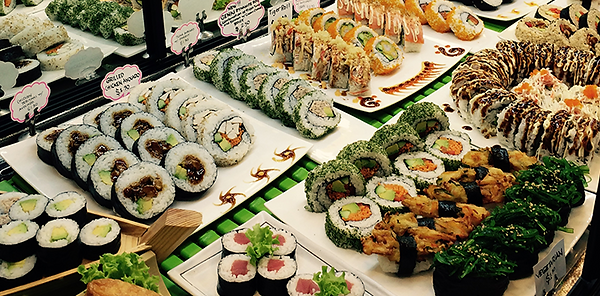 Custom made Refrigerated Sushi Displays