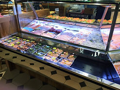 Custom Made Refrigerated Fish and Sushi Display Cabinet