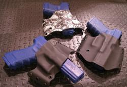 Custom Kydex Glock holsters