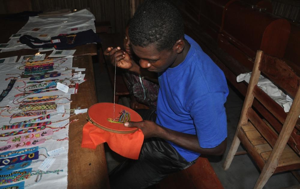 fisherman embroidering madagascar