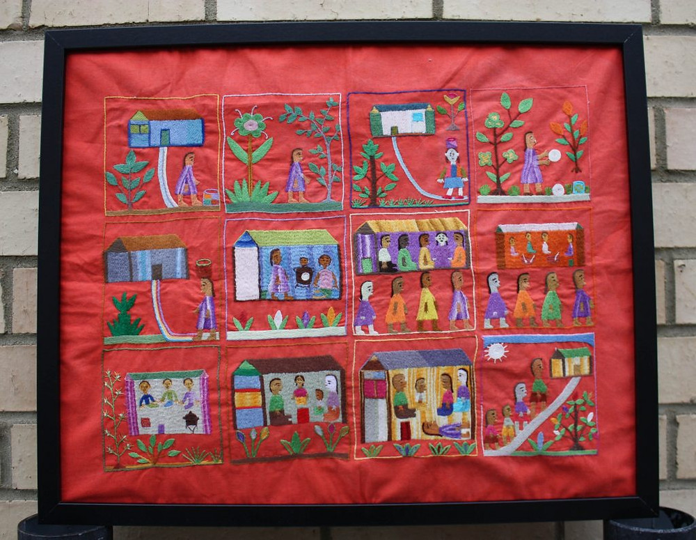 Madagascar Story Embroidery