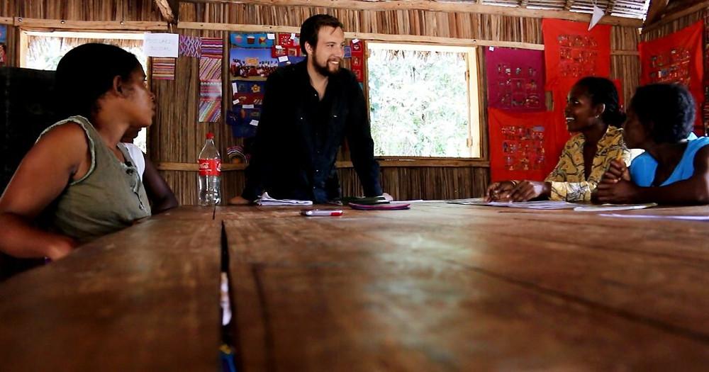 Ben in the Stitch studio