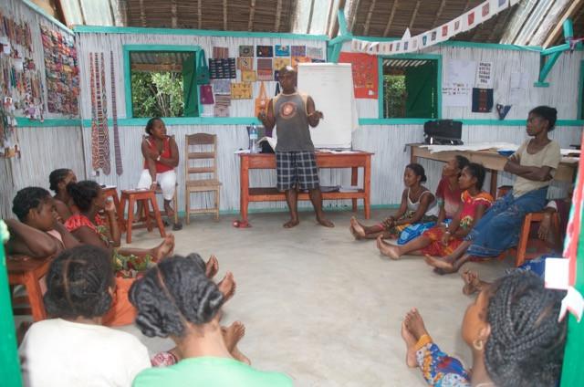 community meeting, Stitch, Madagascar