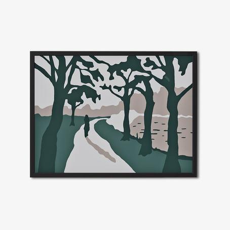 Wandillustratie 60x80cm