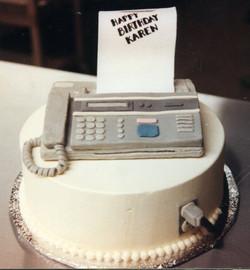 Fax machine birthday cake