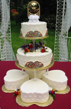 Celtic Knot wedding cake