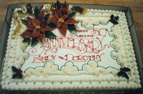 Christmas anniversary cake