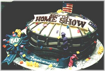 Seattle Home Show Kingdome Cake