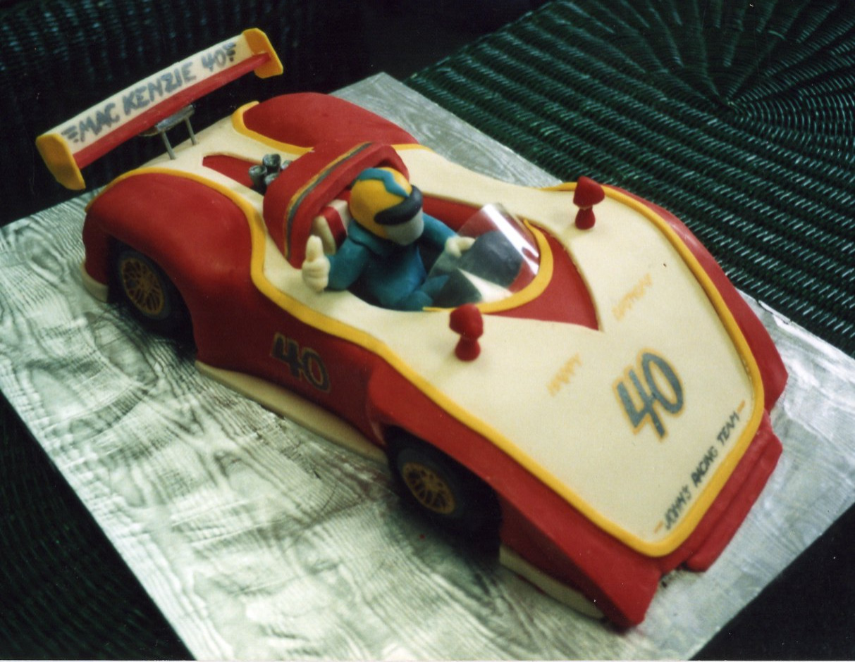 Race Car 40th birthday cake