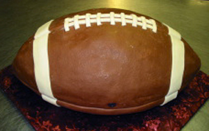 Football groom's cake