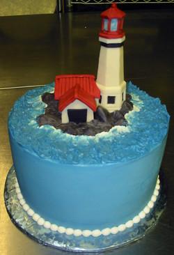 Light House birthday cake