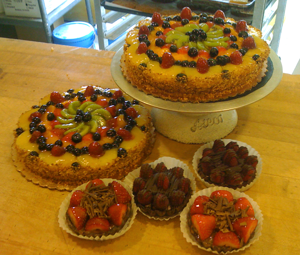 Assorted fruit tarts