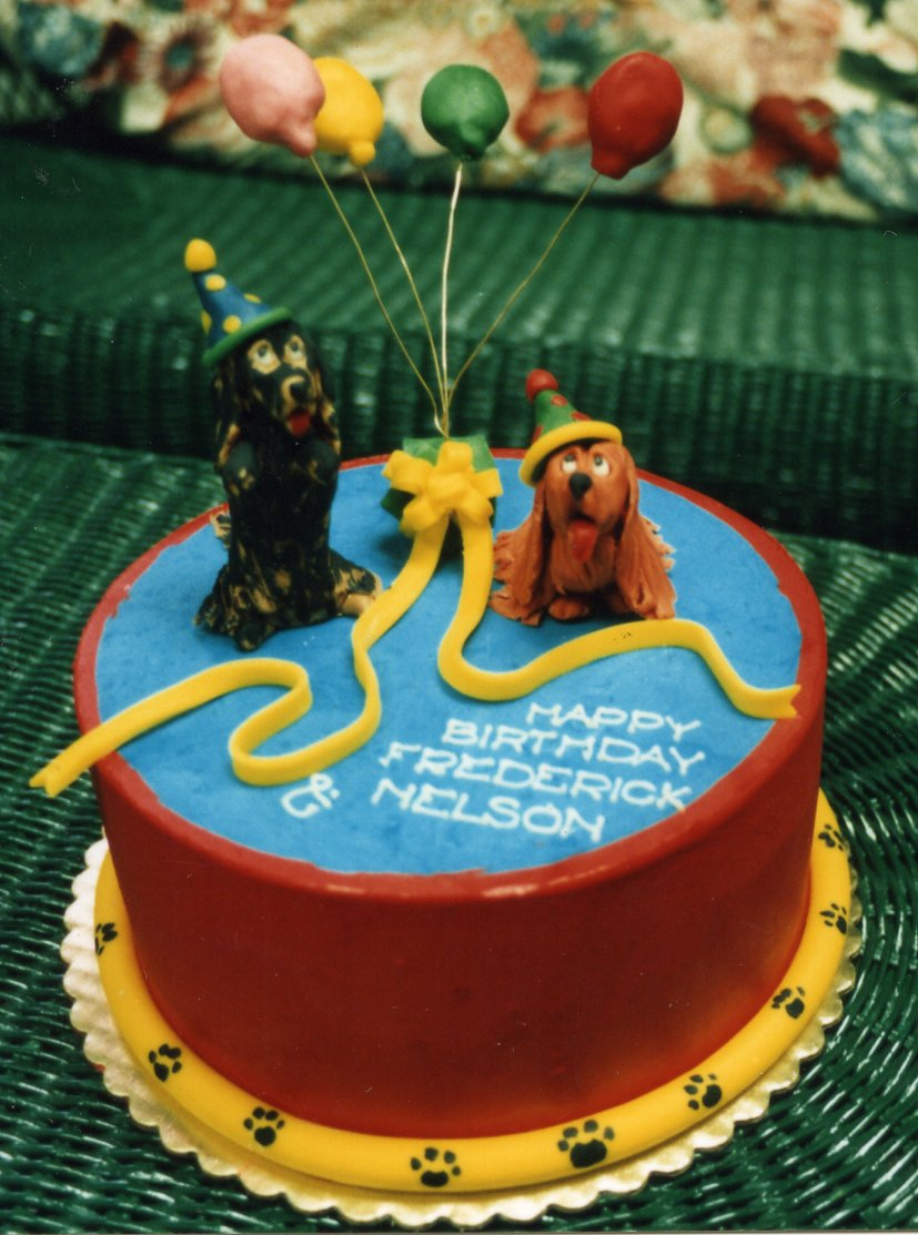 Dachsund birthday cake