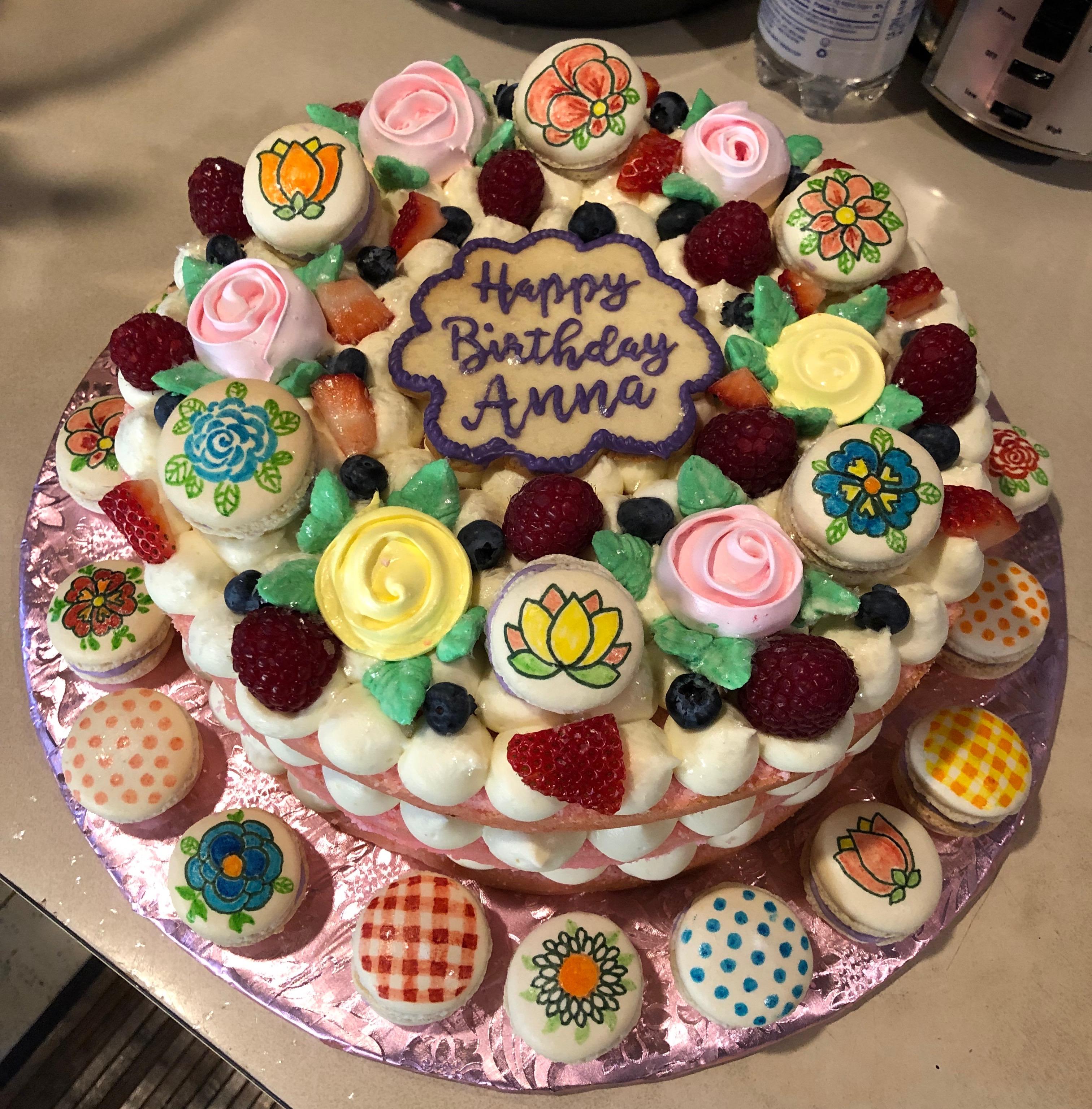 Springtime birthday cake