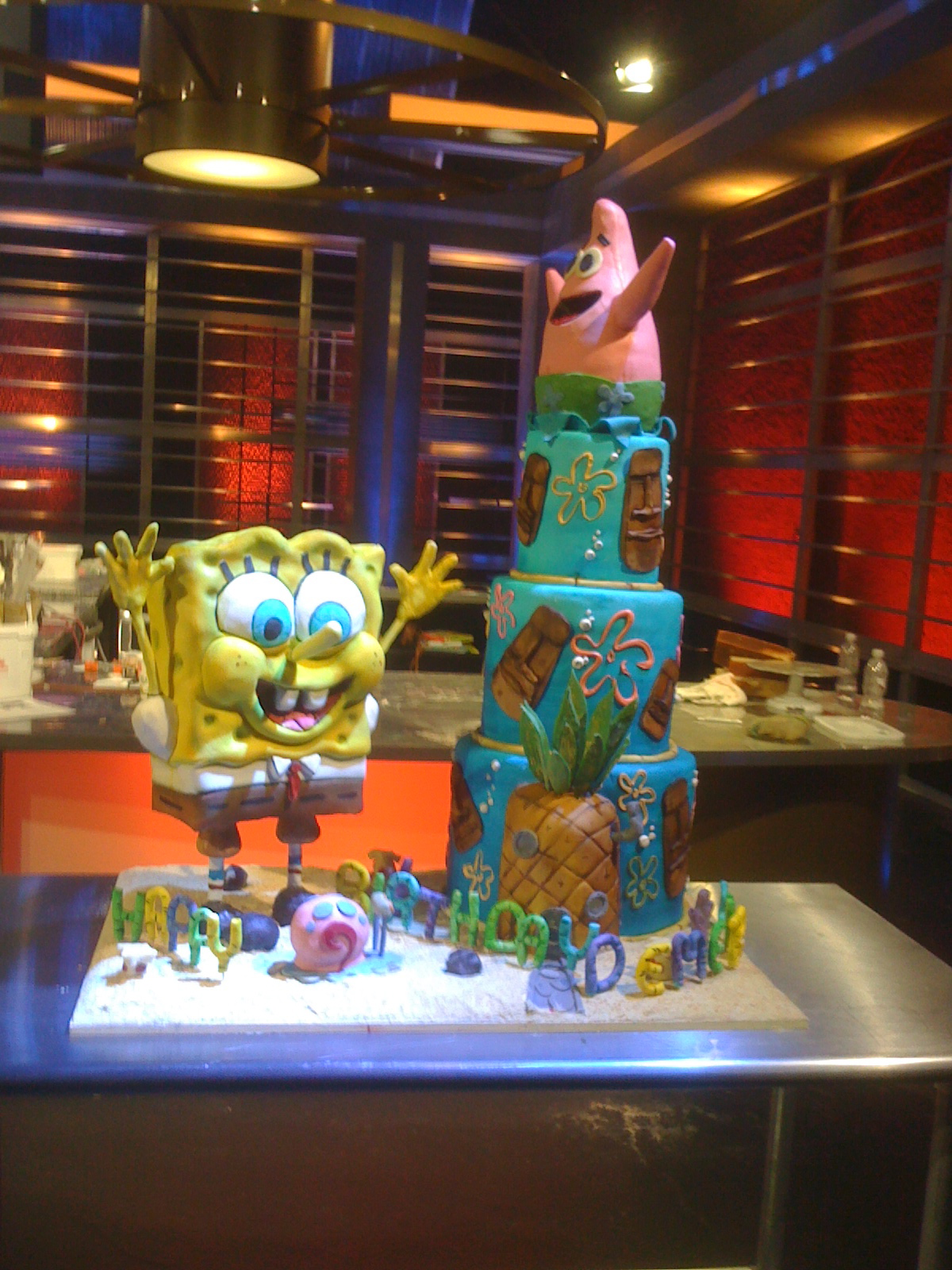 SpongeBob cake for Food Network Challenge