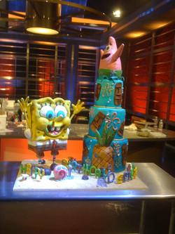 SpongeBob cake for Food Network Challenge