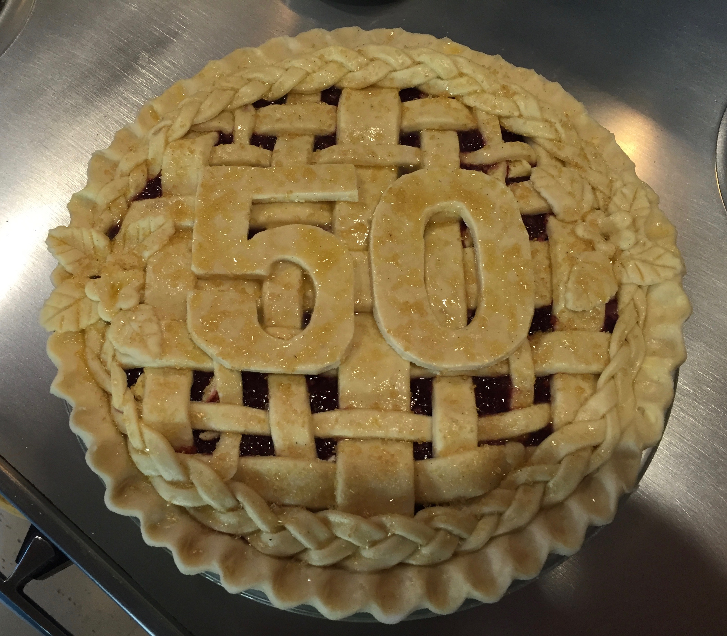 50th Birthday Pie