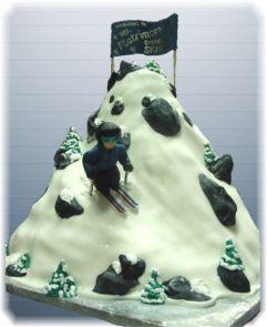 Skier groom's cake