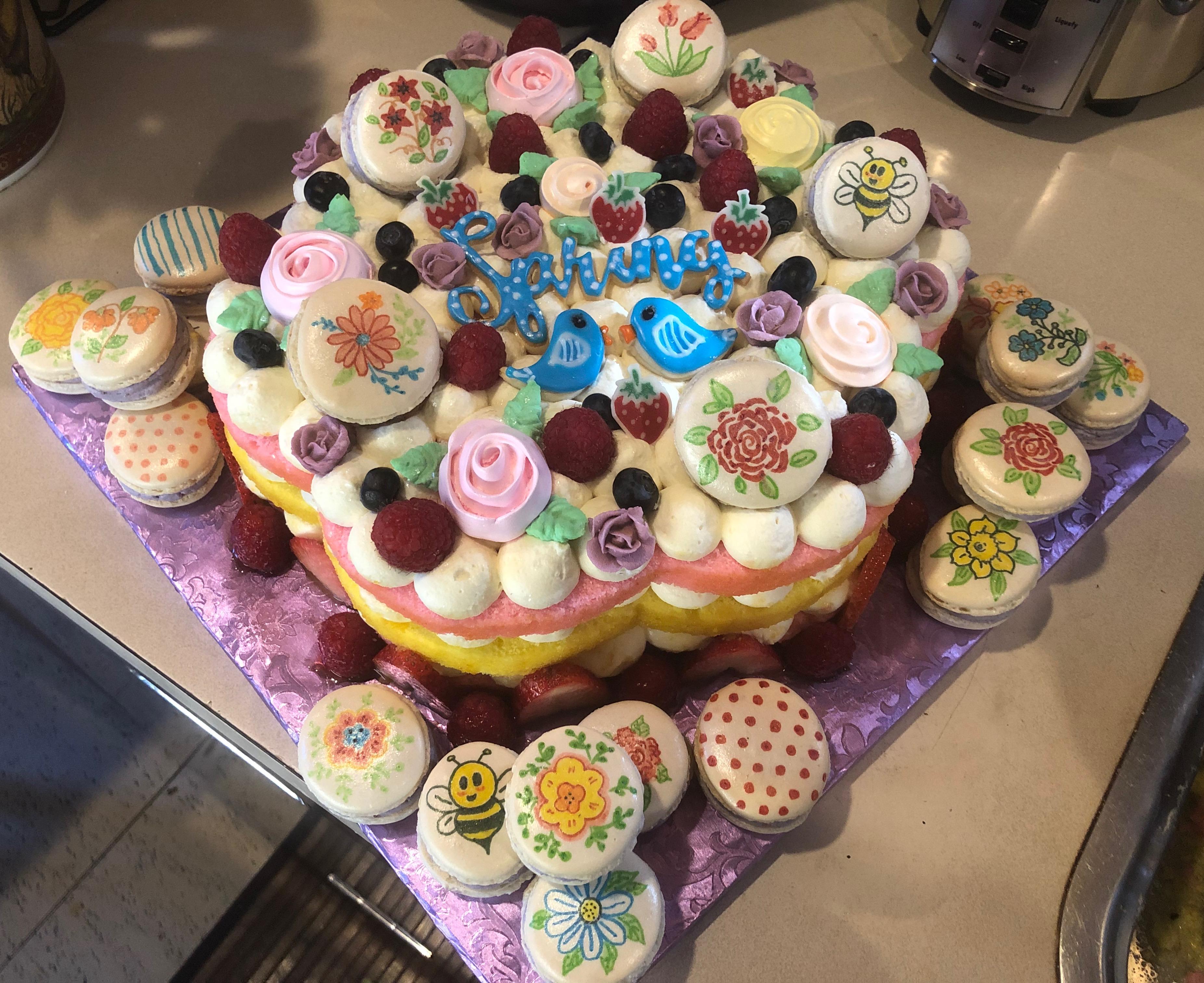 Springtime cake for Port Townsend Education Foundation fundraiser