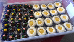 Macaroons and Lemon Nests for Wearable Art Show