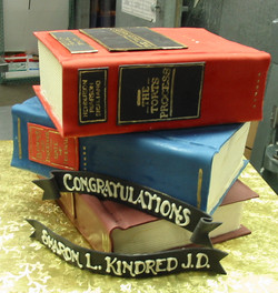 Law Book graduation cake