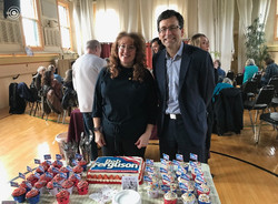 Washington State Attorney General Fundraising cake (with me and Bob Ferguson)