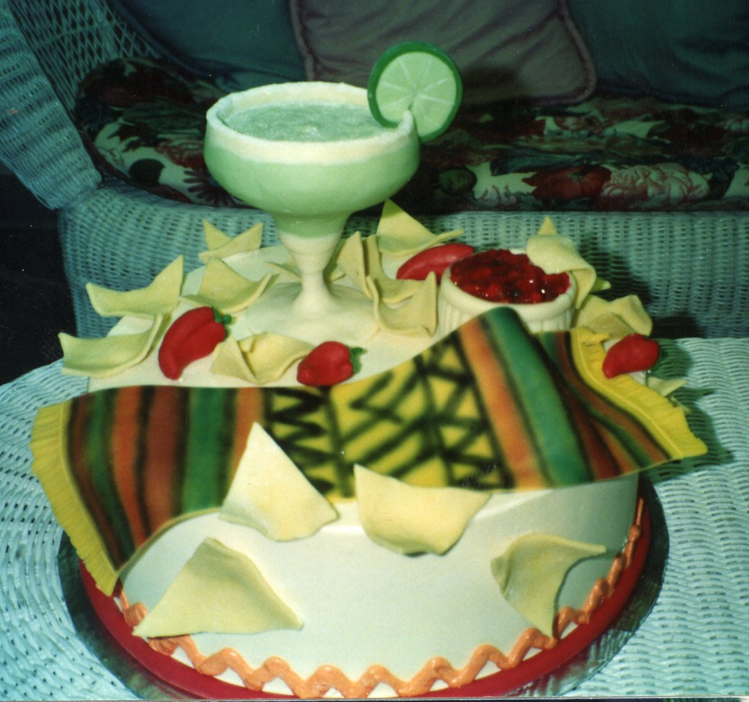 Margarita 40th birthday cake