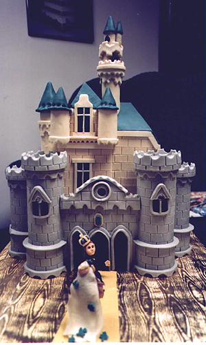 Emerald Castle wedding cake