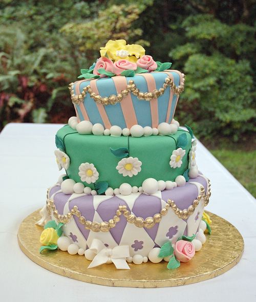 Whimsical celebration cake
