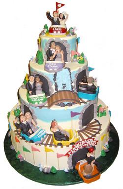 Roller coaster wedding cake