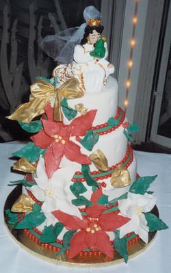 Princess and the Frog Christmas wedding cake