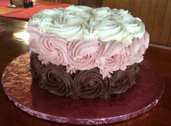 Simple Rosette birthday cake