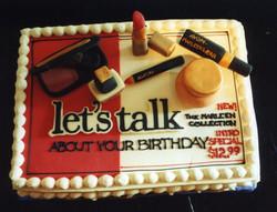 Avon Lady birthday cake