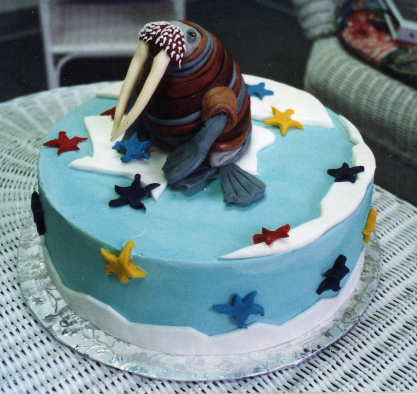 Walrus birthday cake