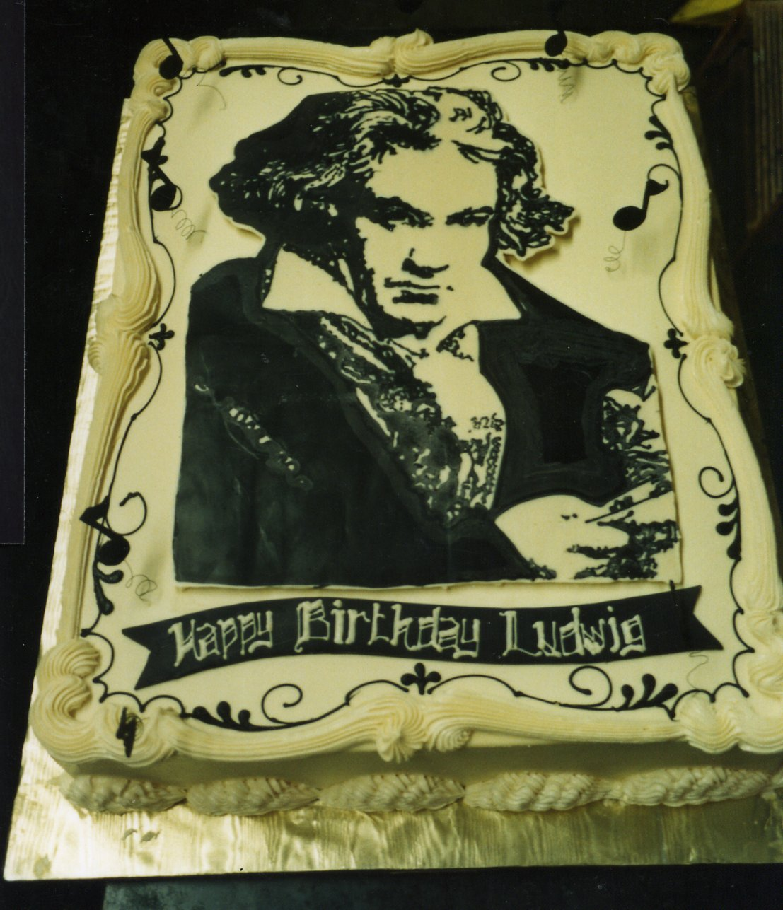 Beethoven's birthday cake