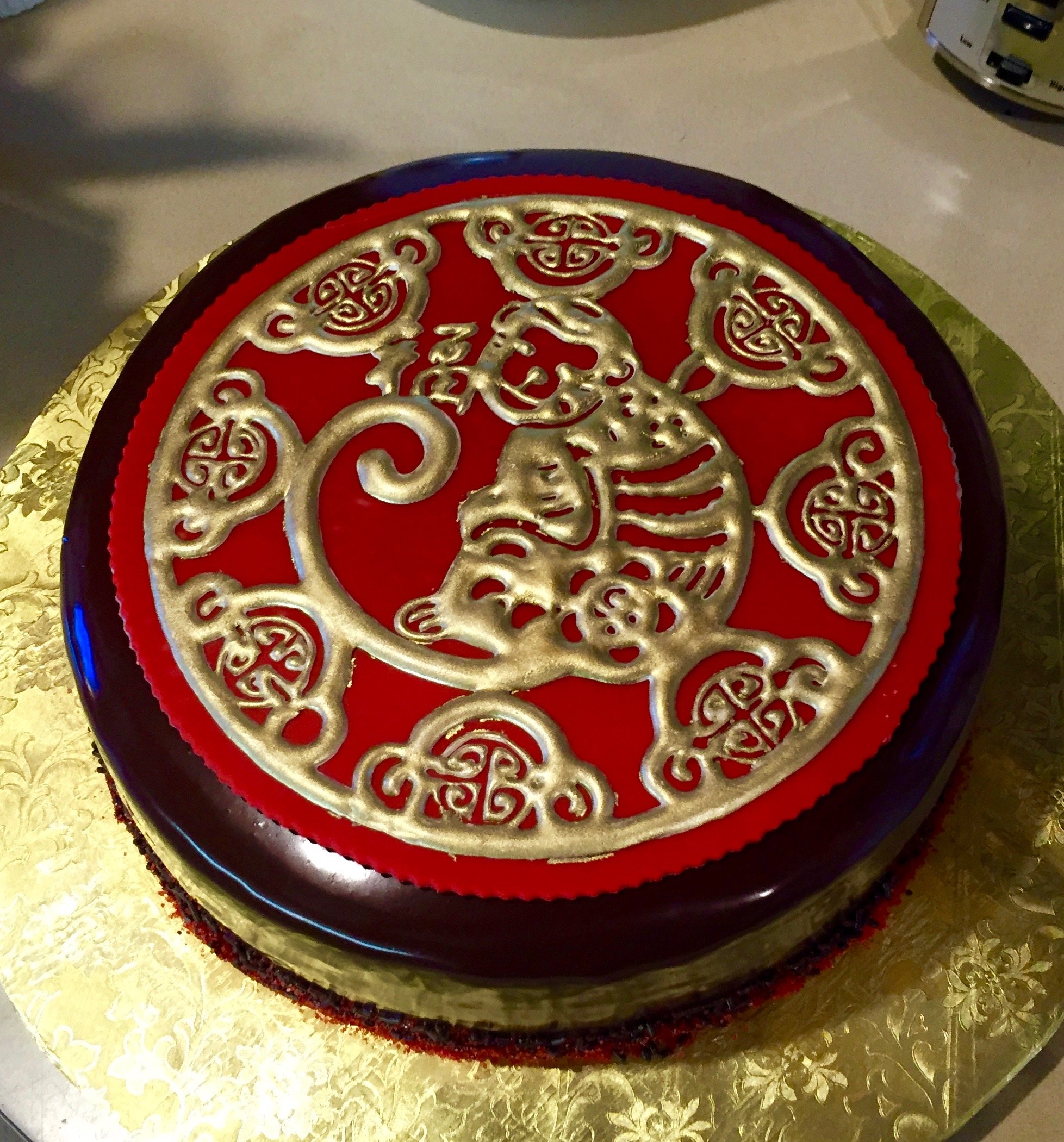 Year of the Monkey fundraising cake