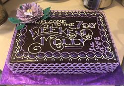 Elegant retirement cake